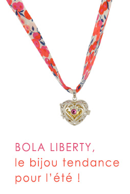 bijou bola argent et liberty