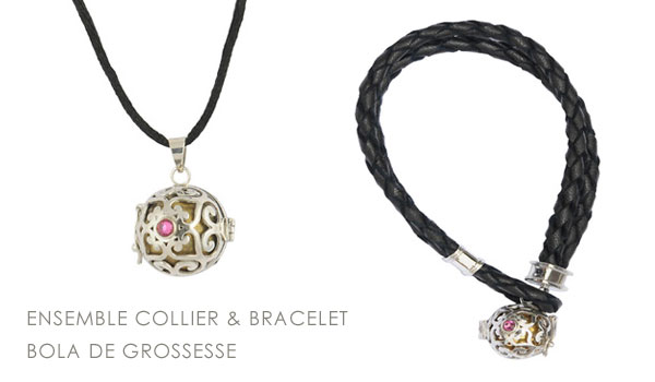 ensemble collier et bracelet bola grossesse