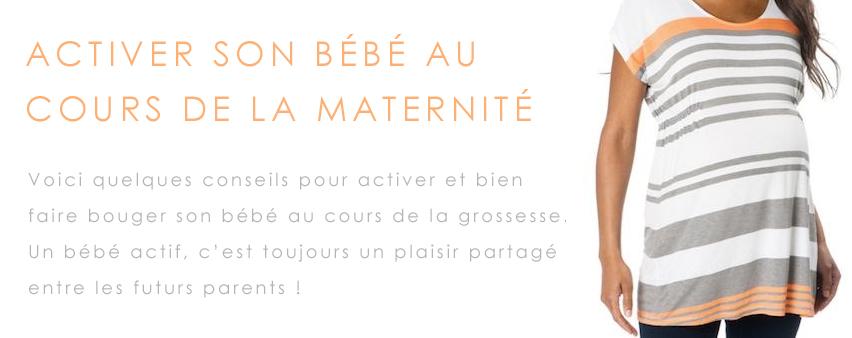 bébé actif maternité